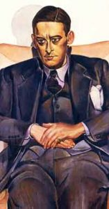 portrait of T S Eliot by Wyndham Lewis