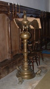the eagle lectern at Little Gidding