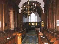 Interior of Little Gidding Church