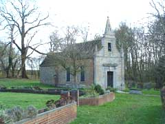 Little Gidding Church in winter