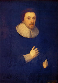 portrait of Nicholas Ferrar by Cornelius Janssen