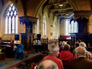 At Leighton Bromswold Church